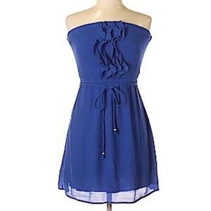 ACCIDENTALLY IN LOVE | Blue A-Line Ruffle Dress
